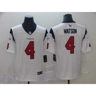 Nike Texans 4 Deshaun Watson White 2019 Vapor Untouchable Limited Men Jersey