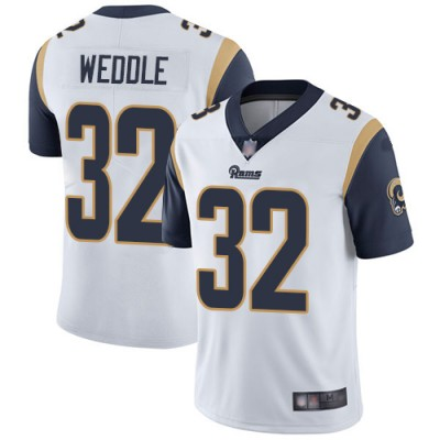 Nike Rams 32 Eric Weddle White Vapor Untouchable Limited Men Jersey
