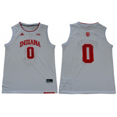 NCAA Indiana Hoosiers 0 Romeo Langford White College Basketball Men Jersey