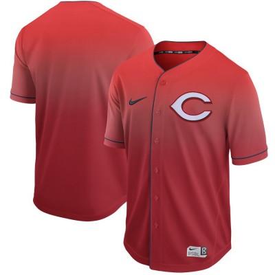 MLB Reds Blank Red Drift Fashion Men Jersey