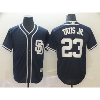 MLB Padres 23 Fernando Tatis Jr. Navy Cool Base Men Jersey