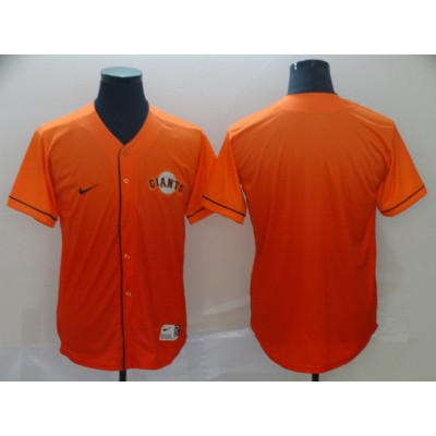 MLB Giants Blank Orange Drift Fashion Men Jersey