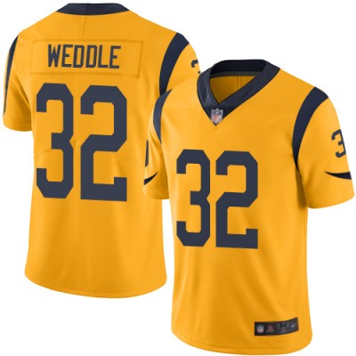 Nike Rams 32 Eric Weddle Gold Color Rush Limited Men Jersey
