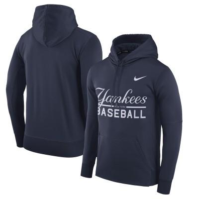 MLB New York Yankees Nike Navy Pullover Hoodie