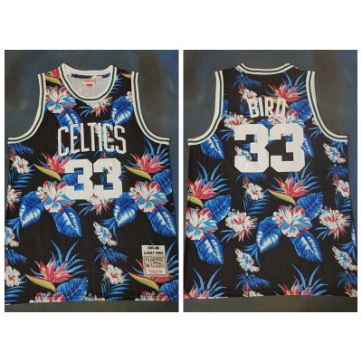 NBA Celtics 33 Larry Bird Black Fashion Hardwood Classics Men Jersey