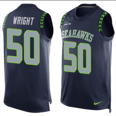 Nike Seahawks 50 K.J. Wright Navy Blue Tank Top