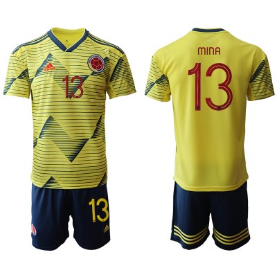 2019-20 Colombia 13 MINA Home Soccer Men Jersey