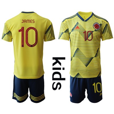 2019-20 Colombia 10 JAMES Home Soccer Youth Jersey