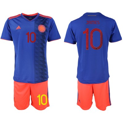 2019-20 Colombia 10 JAMES Away Soccer Men Jersey