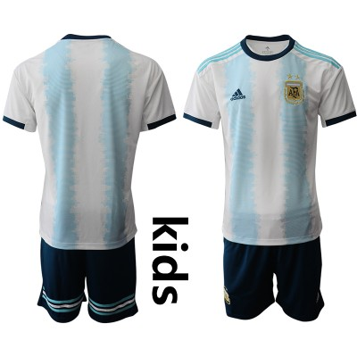 2019-20 Argentina Home Soccer Youth Jersey