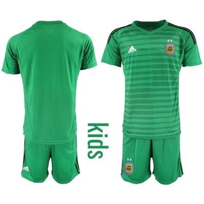 2019-20 Argentina Green Goalkeeper Soccer Youth Jersey