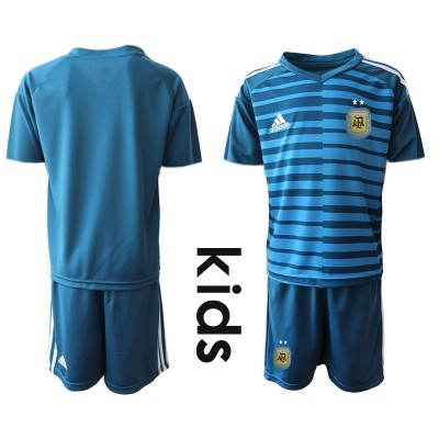 2019-20 Argentina Blue Goalkeeper Soccer Youth Jersey