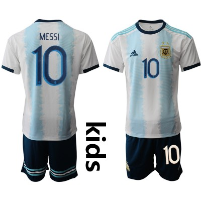2019-20 Argentina 10 MESSI Home Soccer Youth Jersey
