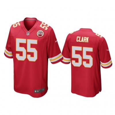 Nike Chiefs 55 Frank Clark Red Elite Men Jersey