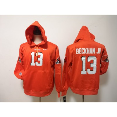 Nike Browns 13 Odell Beckham Jr Orange Hoodie