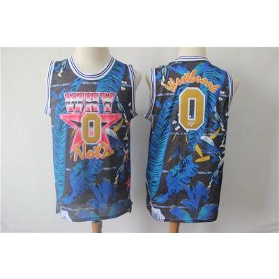 857942614 NBA Jordan Why Not 0 Russell Westbrook Blue All Star Basketball Men Jersey