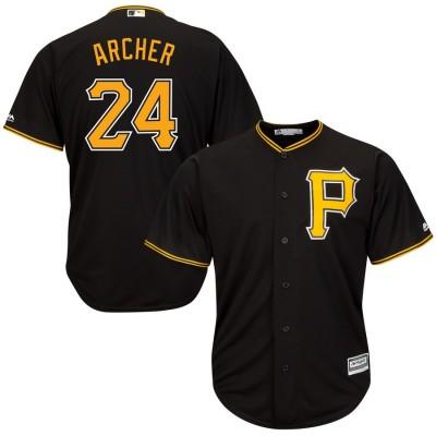 MLB Pirates 24 Chris Archer Black Cool Base Men Jersey