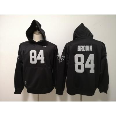 Nike Raiders 84 Antonio Brown Black Hoodie