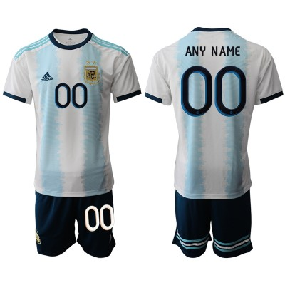 2019-20 Argentina Customized Home Soccer Men Jersey