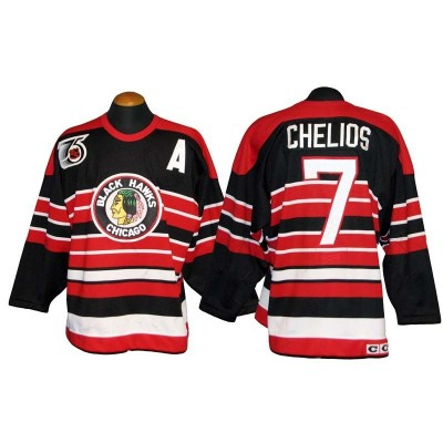 NHL Chicago Blackhawks 7 Chris Chelios 1991-92 Game-Used Men Jersey