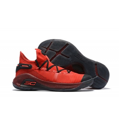 UA Curry 6 Red/Black Shoes