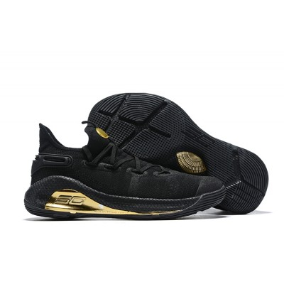 UA Curry 6 Black Gold Shoes