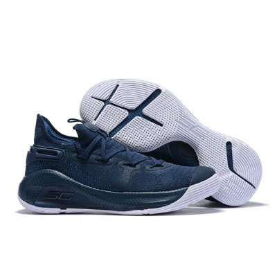 UA Curry 6 Navy Blue/White Shoes