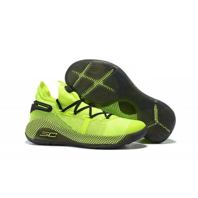 UA Curry 6 Hi Vis Yellow-Guardian Green Shoes