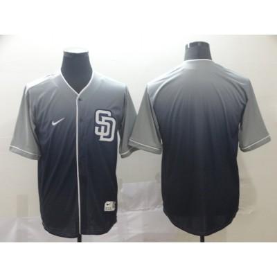 MLB Padres Blank Gray Drift Fashion Men Jersey