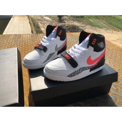Air Jordan Legacy 312 White/Black/Red Kids Shoes
