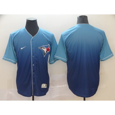 MLB Blue Jays Blank Blue Drift Fashion Men Jersey