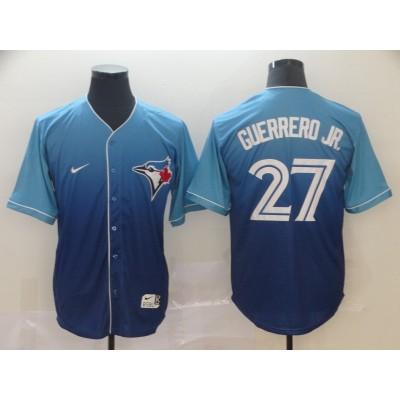MLB Blue Jays 27 Vladimir Guerrero Jr. Blue Drift Fashion Men Jersey