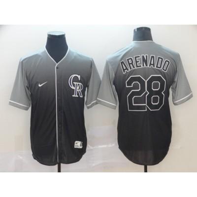 MLB Rockies 28 Nolan Arenado Gray Drift Fashion Men Jersey