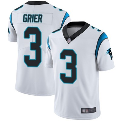 Nike Panthers 3 Will Grier White Vapor Untouchable Limited Men Jersey