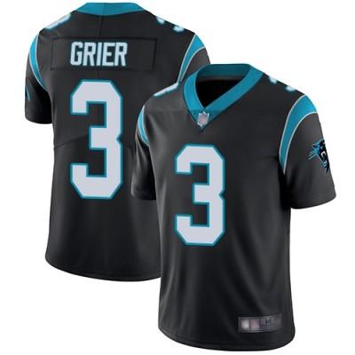 Nike Panthers 3 Will Grier Black Vapor Untouchable Limited Men Jersey