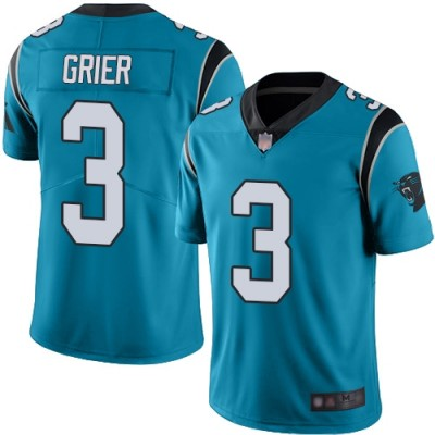 Nike Panthers 3 Will Grier Blue Vapor Untouchable Limited Men Jersey