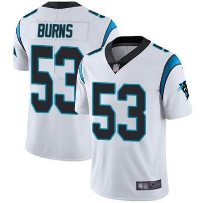 Nike Panthers 53 Brian Burns White Vapor Untouchable Limited Men Jersey