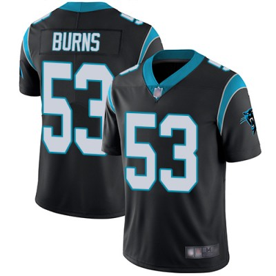 0350433fc Nike Panthers 53 Brian Burns Black Vapor Untouchable Limited Men Jersey