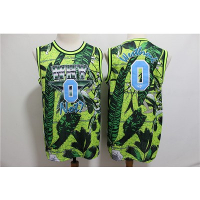 NBA Jordan Why Not 0 Russell Westbrook Green All Star Basketball Men Jersey