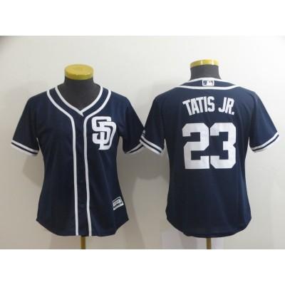 MLB Padres 23 Fernando Tatis Jr. Navy Cool Base Women Jersey