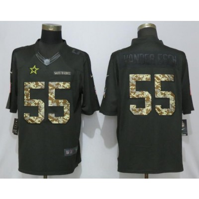 70e7212c Nike Cowboys 55 Leighton Vander Esch Anthracite Salute To Service Limited  Men Jersey