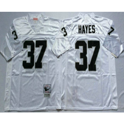 Mitchell and Ness NFL Raiders 37 Lester Hayes White Throwback Jersey