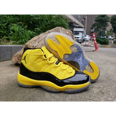 Air Jordan 11 Black Yellow Shoes