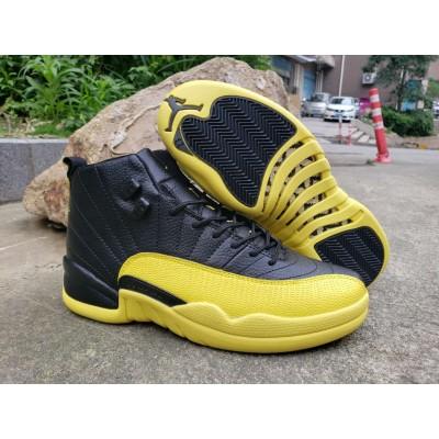 Air Jordan 12 Black Yellow Shoes