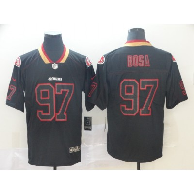 Nike 49ers 97 Nick Bosa Black Shadow Legend Limited Men Jersey