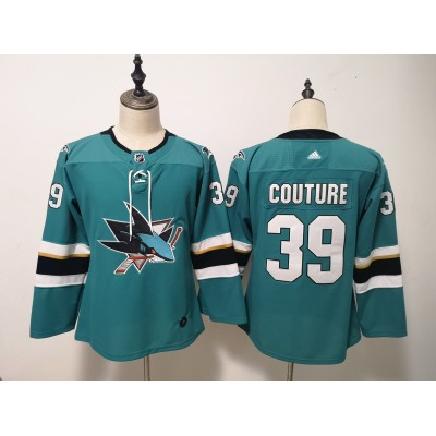 NHL Sharks 39 Logan Couture Teal Adidas Youth Jersey