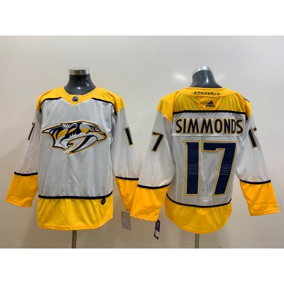 NHL Predators 17 Wayne Simmonds White Adidas Men Jersey