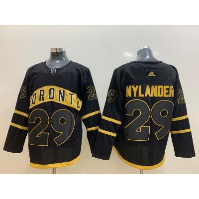 NHL Leafs 29 William Nylander Black Adidas Men Jersey