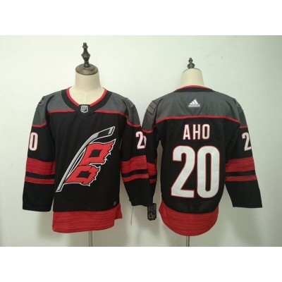 NHL Hurricanes 20 Sebastian Aho Black Adidas Men Jersey