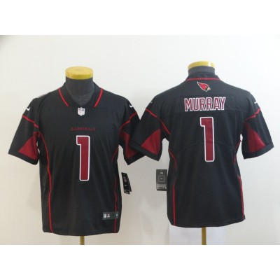 Nike Cardinals 1 Kyler Murray Black Color Rush Limited Youth Jersey